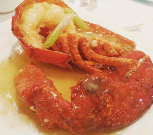 Baked Boston Lobster (Half) in Superior Stock