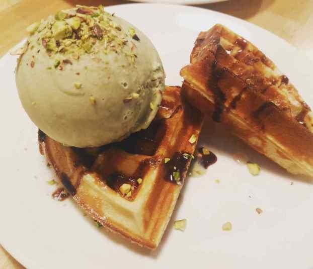 The Milky Way Pistachio Ice Cream Waffle