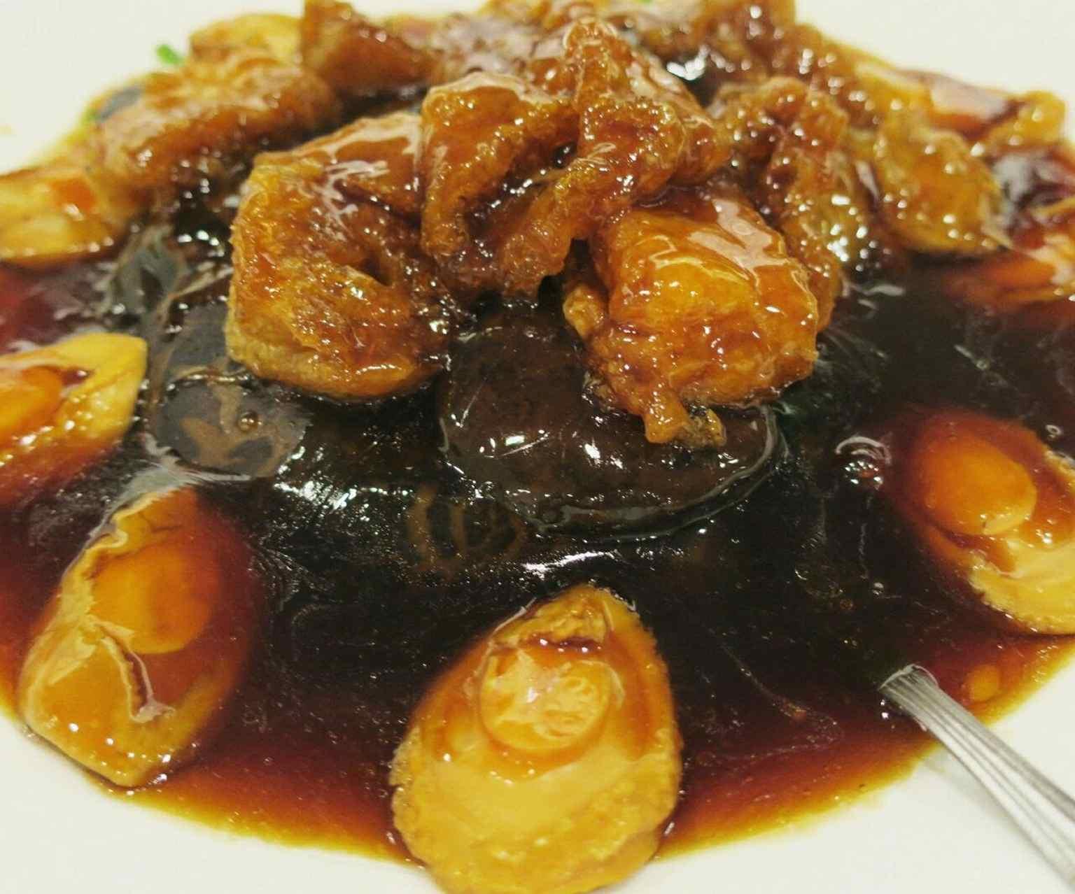Braised Abalone, Mushrooms and Fish Maw