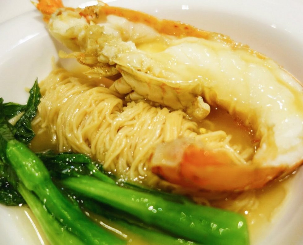 Wok Fried Wanton Noodles with Lobster in Superior Stock 龙虾上汤焖生面