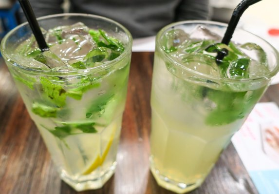 Lemon Cooler with Peppermint and Basil Passionfruit & Basil Mojito