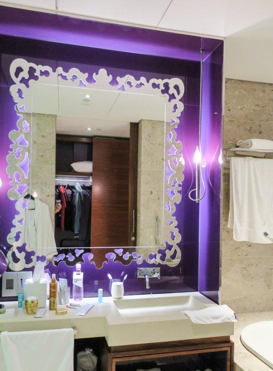 Beautiful Purple Vanity
