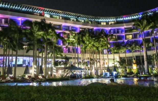 W Hotel at night